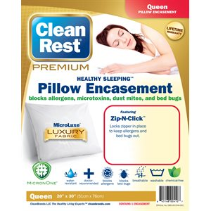 CleanRest Premium Pillow Encasements