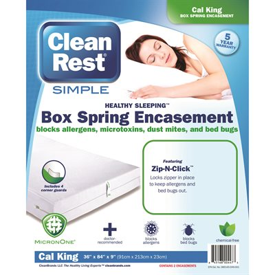 CleanRest Simple Box Spring Encasement - Twin 39x75x9